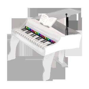 银色儿童玩具钢琴