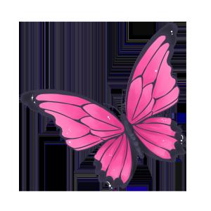手绘卡通粉色蝴蝶
