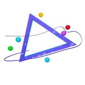 七彩三角C4D背景板装饰素材
