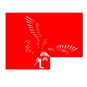 手绘卡通红色仙鹤