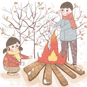 冬日人取暖温暖人心