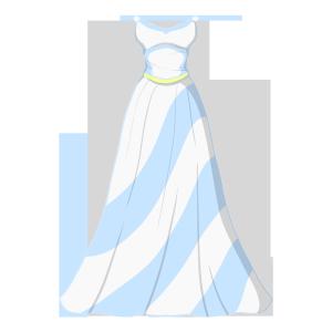 卡通婚纱矢量图下载