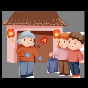 手绘卡通2019过年春节