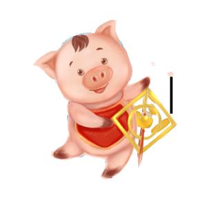2019春节小猪祝贺