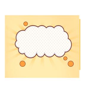 白色云朵背景对话框