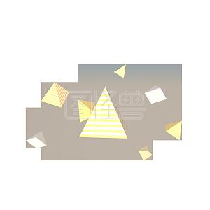 C4D立体几何角锥漂浮装饰素材