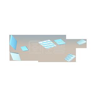 C4D立体几何四边形漂浮元素