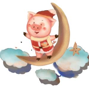 2019春节一帆风顺小金猪
